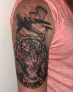 Татуировки войск ждв – на плече, эскизы, фото, на руке, медведь, разведка, на ладони, парашют, спецназ
